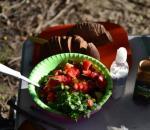 Плов и салат из свежих овощей от Олега