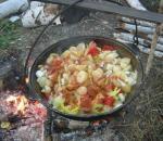 Картошка с овощами в казане от Олега